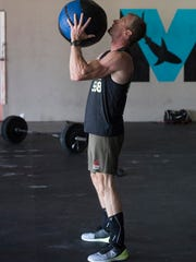 Shannon Aiken, 55, works out at Mako Athletics in the
