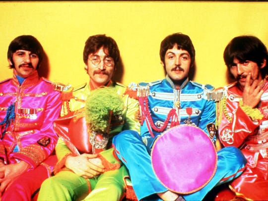 "The Beatles as ""Sgt. Pepper's Lonely Hearts Club Band."""