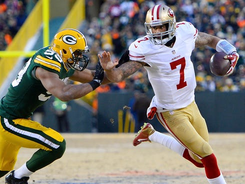 49ers QB Colin Kaepernick has never lost to the Packers.