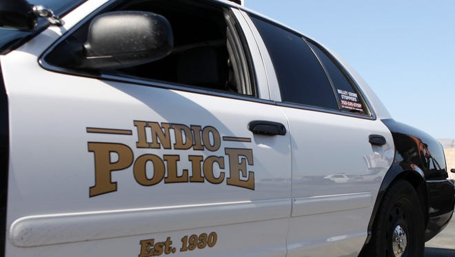 An Indio police car is seen in an undated file photo.