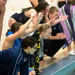 A friendly dip in the pool: South Western swimmers hosts New Oxford for Senior Night