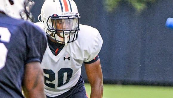 Auburn defensive back Jeremiah Dinson (20) in action