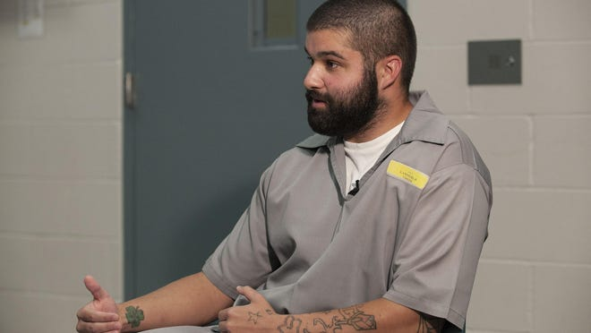Blaec Lammers talks with the News-Leader during an interview at the Jefferson City Correctional Center on Thursday, September 10.