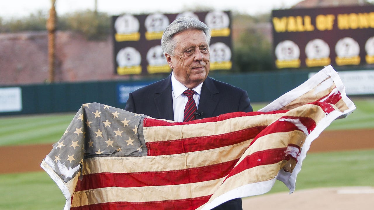 ASU baseball honors College baseball Hall of Famer Rick Monday. Video by Thomas Hawthorne | azcentral.com