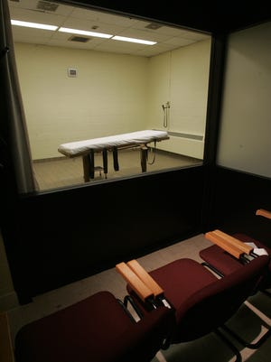 The death chamber at the Southern Ohio Correctional Facility in Lucasville.