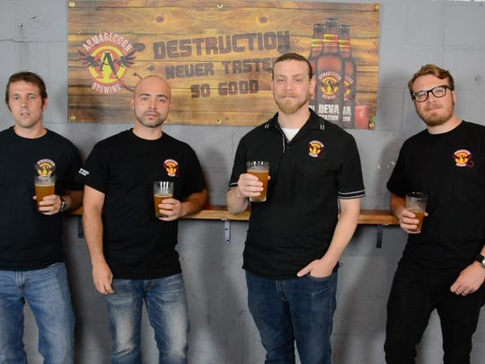 Armageddon Brewing is a labor of love for four friends who already enjoy homebrewing beer together. From left are: Matt Olsen, Christian Annese, Kyle Laird and Gill Cornwall.