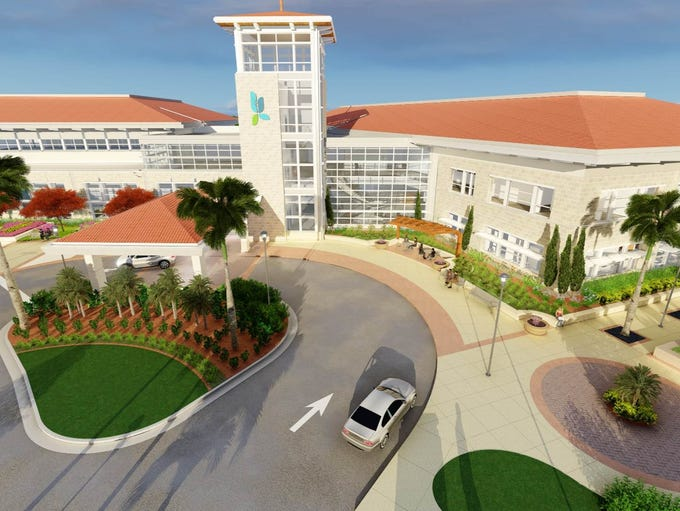 A rendering of the Lee Health facility under construction