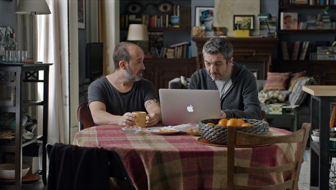 "Javier Cámara plays Tomás and Ricardo Darin is Julián, his ailing friend, in ""Truman."""