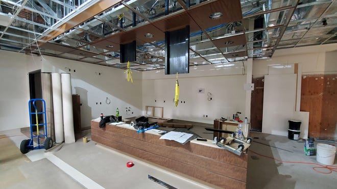The nurse's station in Mercy Mt. Shasta's new Emergency Department will serve as a hub for activity. The 2,900 square foot expansion is on target to open mid-July, hospital officials said.