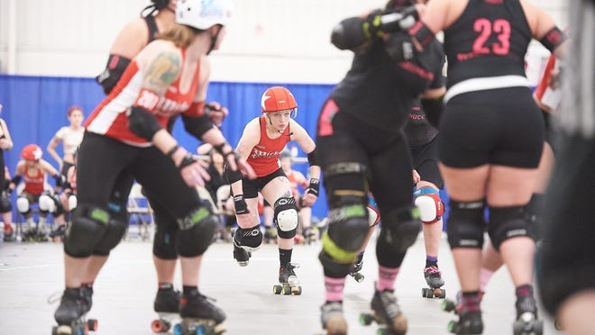 Quincy's Harley Bodine plays for the Boston Roller Derby, which is ranked No. 36 in the worldwide rankings. The team has been sidelined from competition due to COVID-19 since February.