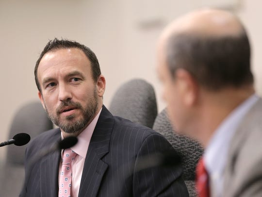 Attorney Ross Fischer discusses whether or not to continue investigating city Rep. Larry Romero since he has already resigned from office in this 2016 file photo. The city Ethics Review Commission decided to continue the inquiry.