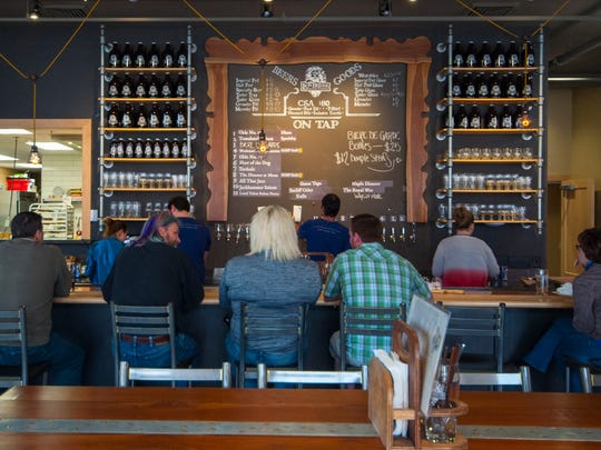 Lion Bridge Brewing Co. features its own beers on tap