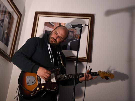 Musician David Bazan performs for an intimate crowd