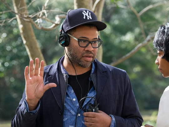 Jordan Peele on the set of 'Get Out.'