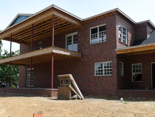 Home under construction by Joe Mattingly Builders on