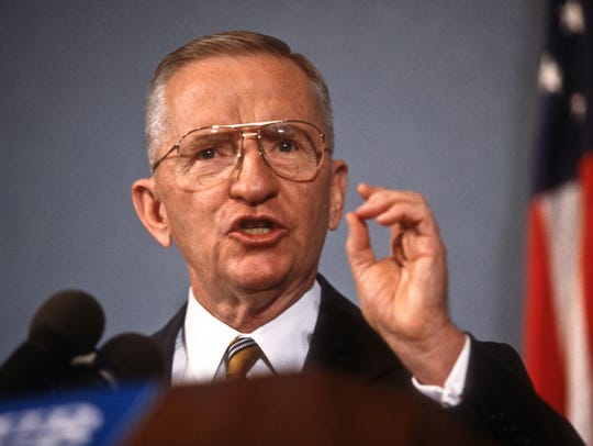 Reform party presidential candidate Ross Perot speaks