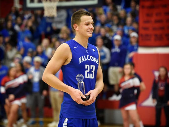 Cole Laney was named MVP following the Cedar Crest