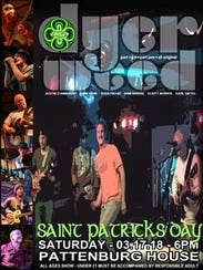 Celebrate St. Patrick's Day from 6 to 10 p.m. on Saturday,