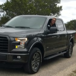 Pete Reyes, chief engineer of the 2015 aluminum-body Ford F-150, enjoys Texas back roads Oct. 1, 2014.