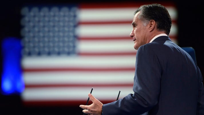 Mitt Romney speaks at the Conservative Political Action