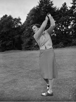 Babe Zaharias in action in 1951.