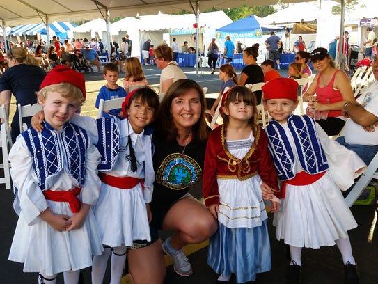 Dancers performing at A Taste of Greece Greek Festival