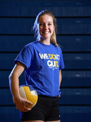 Kimball's Madison Hurrle has been named the Times Media Prep Athlete of the Week. She is shown during practice Tuesday, Nov. 8, at Kimball High School.