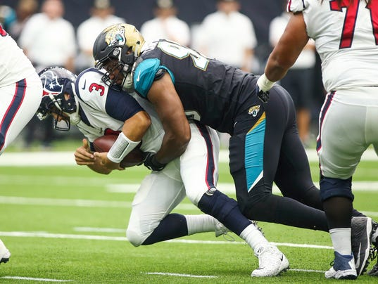 USP NFL: JACKSONVILLE JAGUARS AT HOUSTON TEXANS S FBN HOU JAC USA TX