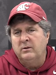Washington State head football coach Mike Leach at his Wednesday press conference.