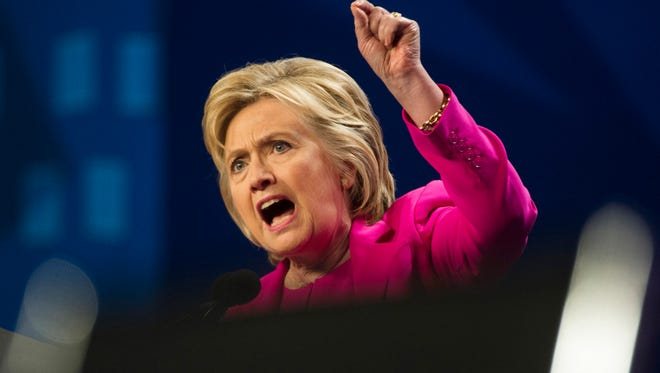In this July 5, 2016, file photo, Democratic presidential candidate Hillary Clinton speaks in Washington. A reader says that Clinton's email issues at the State Department show  that she cannot be trusted to keep government secrets.