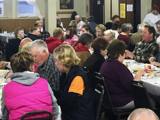 The annual lutefisk supper at Five Points Lutheran Church in Richland County. Donald Trump won the county 50.5% to 44.9% over Hillary Clinton in the 2016 presidential election.
