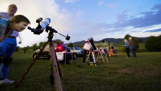 "Members of the Barnard-Seyfert Astronomical Society host ""star parties "" around town, where anybody can go and do some stargazing and learn about the night sky."
