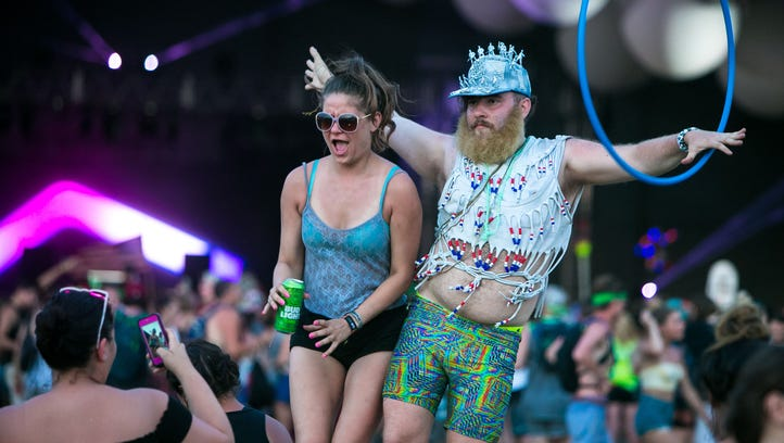 Firefly fans dance to the music of Snakehips at The