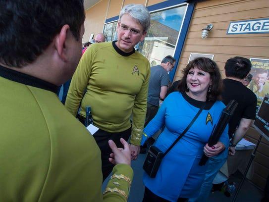Star Trek fans gather outside Star Trek Original Set