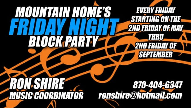 Mountain Home's Friday Night Block Party logo