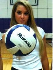 Lindsey Nance played volleyball when she was in high