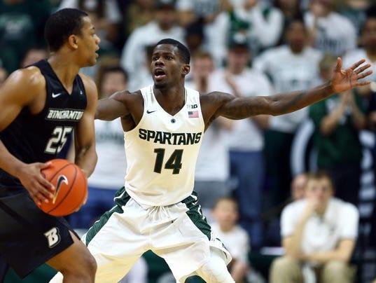 Michigan State guard Eron Harris still making 'not easy ...