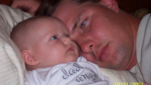 Steven Forrest with his daughter Elizabeth before she died in 2008.