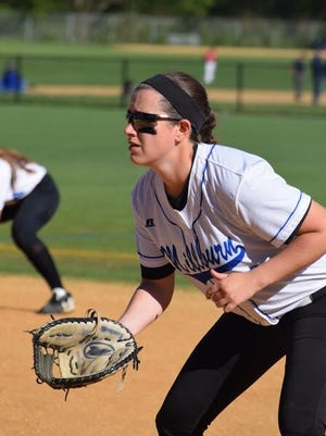 Millburn first baseman Helen Casey is a big component for the Millers offensively and defensively.