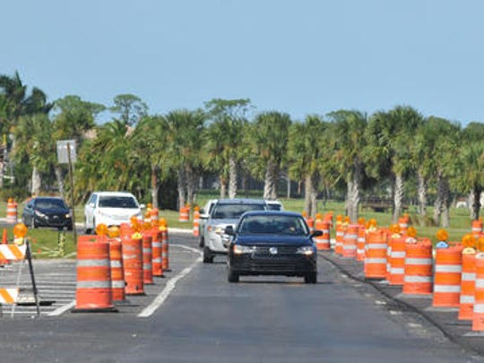 Widening of Stadium Parkway is nearing completion