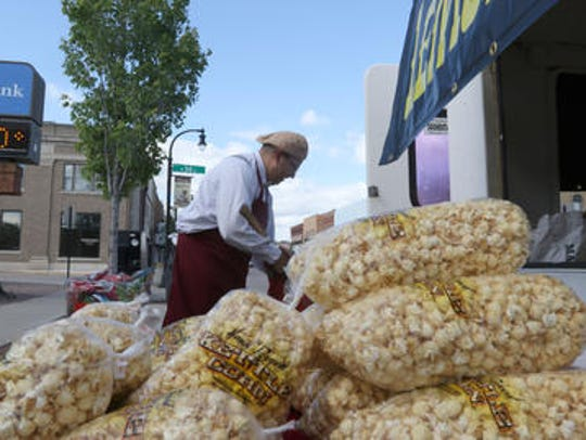 Jay Harwood, of Razor Jay's Old Fashioned Kettle Corn,