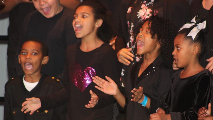The Martin Luther King Choir sang several selections during the 10th annual Peace and Freedom Breakfast on Monday at the Palace Theatre's May Pavilion in Marion.