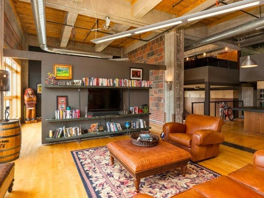 "The inside of the loft that played Chris Soules' apartment on ""The Bachelor."""