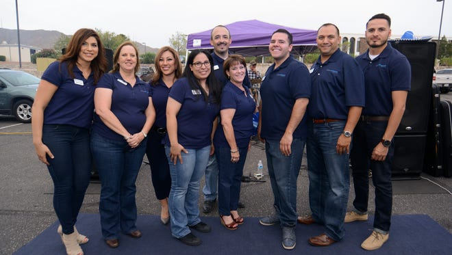 Candi Lopez, left to right, Sandy Johnson, Tania Guzman, Nickie Hekking, Victor Mendoza, Denice Herrera, Richard Hekking, Albert Guzman and Armando Guzman