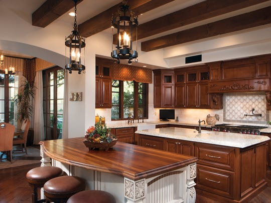 For more formal entertaining, the living and dining