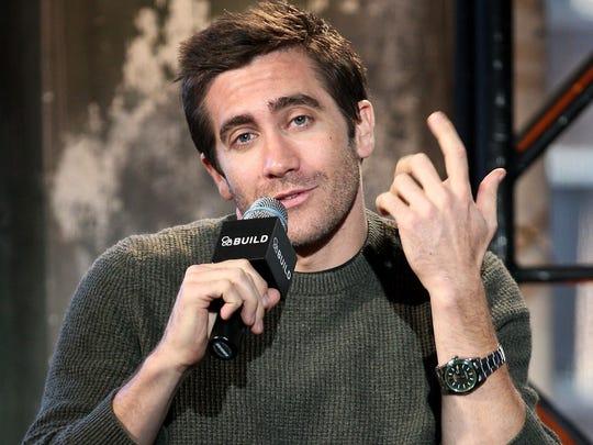 "Jake Gyllenhaal attends AOL's BUILD Speaker Series: Jake Gyllenhaal Discusses His New Film ""Nightcrawler"" at AOL Studios In New York on November 3, 2014 in New York City."