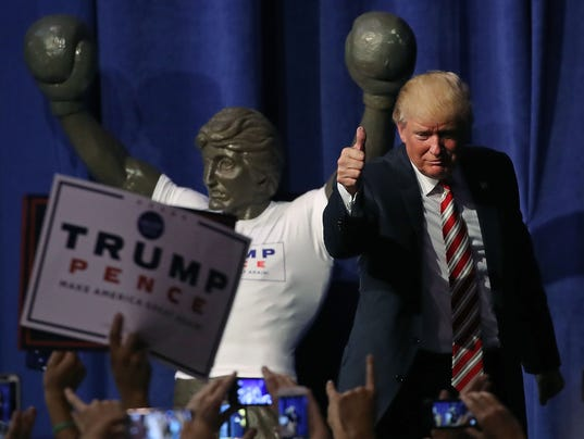 Donald Trump Holds Campaign Event In Pennsylvania