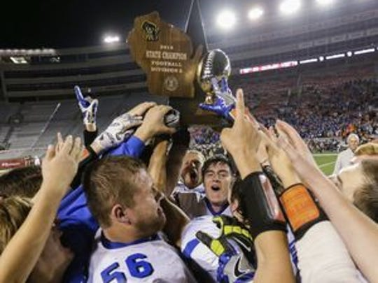 Amherst has appeared in four of the past five Division 5 state championships games, winning three titles.