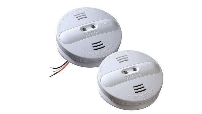 The Kidde (KIH'-duh) company has issued a recall for models PI2010, left, and PI9010 due to a manufacturer defect producing nearly 500,000 smoke detectors that might not be able to detect smoke.