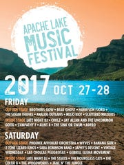Apache Lake Music Festival poster